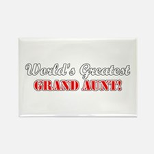 World's Greatest Grand Aunt Rectangle Magnet
