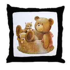 Basket Buddies Throw Pillow