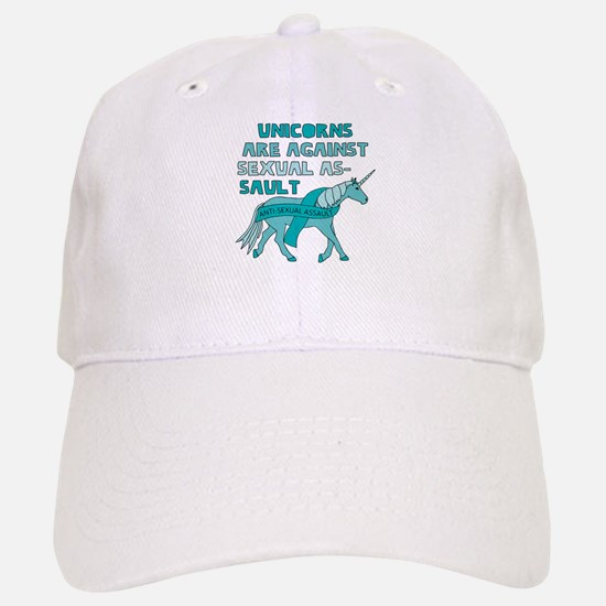 Unicorns Are Against Sexual Assault Baseball Baseball Cap