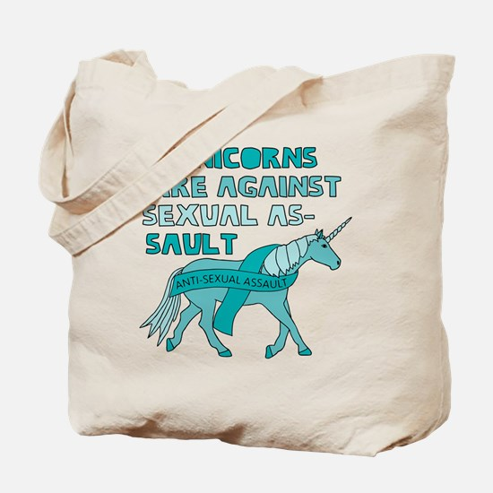Unicorns Are Against Sexual Assault Tote Bag