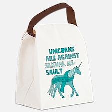 Unicorns Are Against Sexual Assau Canvas Lunch Bag