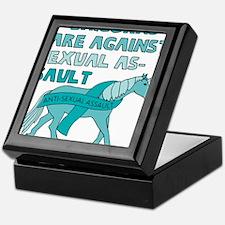 Unicorns Are Against Sexual Assault Keepsake Box