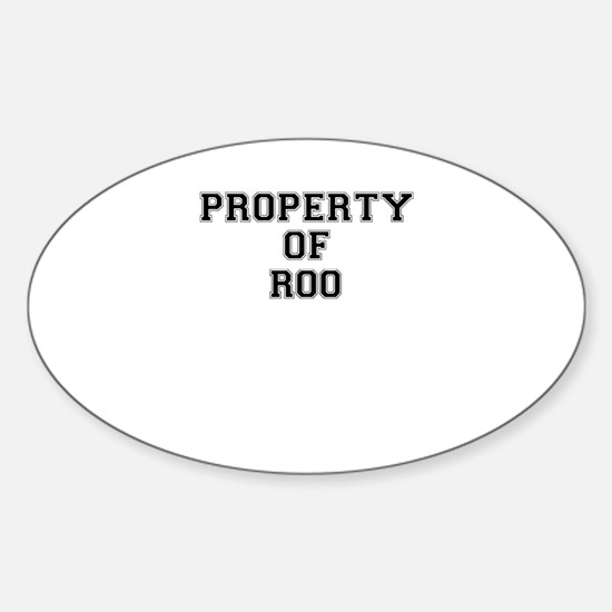 Property of ROO Decal