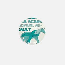 Unicorns Are Against Sexual Assault Mini Button