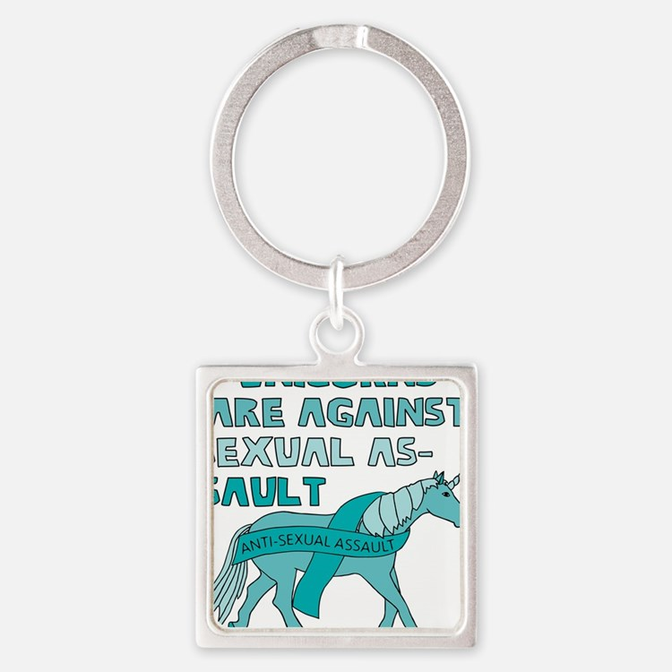 Unicorns Are Against Sexual Assault Keychains