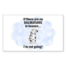 Dalmatians In Heaven Rectangle Decal