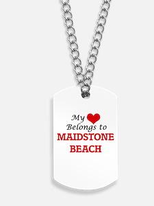 My Heart Belongs to Maidstone Beach New Y Dog Tags