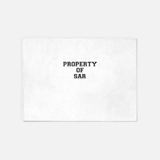 Property of SAR 5'x7'Area Rug