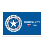 Denton County Flag Postcards (Package of 8)