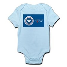 Denton County Flag Infant Creeper
