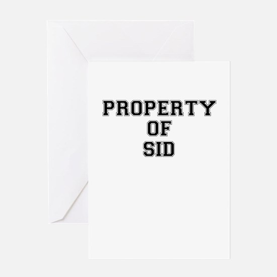 Property of SID Greeting Cards