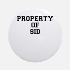 Property of SID Round Ornament