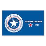 Denton County Flag Rectangle Sticker