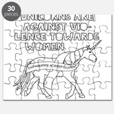 Unicorns Are Against Violence Towards Woman Puzzle