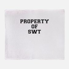 Property of SWT Throw Blanket