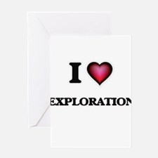 I love Exploration Greeting Cards