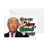 Donald president Greeting Cards