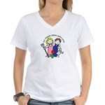 All Thing Grow with Love Women's V-Neck T-Shirt