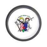 All Thing Grow with Love Wall Clock