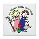 All Thing Grow with Love Tile Coaster
