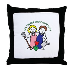 All Thing Grow with Love Throw Pillow