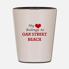 My Heart Belongs to Oak Street Beach Il Shot Glass
