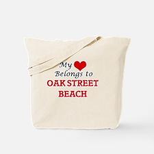 My Heart Belongs to Oak Street Beach Illi Tote Bag