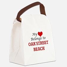 My Heart Belongs to Oak Street Be Canvas Lunch Bag