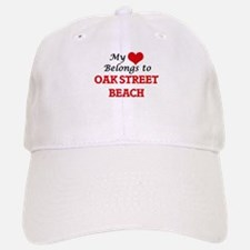 My Heart Belongs to Oak Street Beach Illinois Baseball Baseball Cap