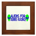 Aliens For Dennis Kucinich Framed Tile