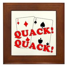 Duces (Ducks) Poker Framed Tile