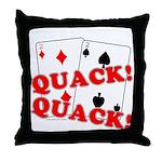 Duces (Ducks) Poker Throw Pillow