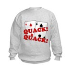 Duces (Ducks) Poker Kids Sweatshirt