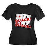 Duces (Ducks) Poker Women's Plus Size Scoop Neck D