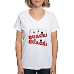 Duces (Ducks) Poker Women's V-Neck T-Shirt