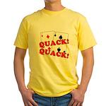 Duces (Ducks) Poker Yellow T-Shirt