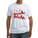 Duces (Ducks) Poker Fitted T-Shirt