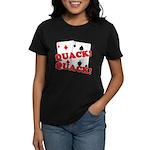 Duces (Ducks) Poker Women's Dark T-Shirt