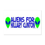 Aliens For Hillary Clinton Mini Poster Print