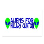 Aliens For Hillary Clinton Postcards (Package of 8
