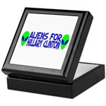 Aliens For Hillary Clinton Keepsake Box