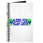 Aliens For Hillary Clinton Journal