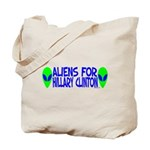Aliens For Hillary Clinton Tote Bag