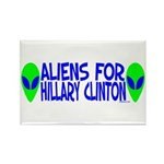 Aliens For Hillary Clinton Rectangle Magnet (10 pa