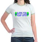 Aliens For Hillary Clinton Jr. Ringer T-Shirt