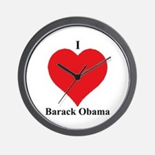 I Love Barack Obama Wall Clock