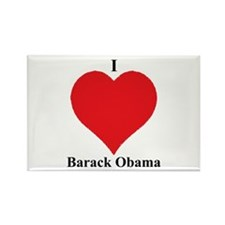 I Love Barack Obama Rectangle Magnet
