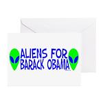 Aliens For Barack Obama Greeting Cards (Pk of 10)