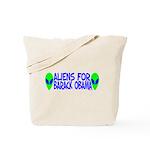 Aliens For Barack Obama Tote Bag