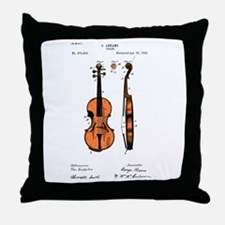 Fiddle (Full) Patent Throw Pillow